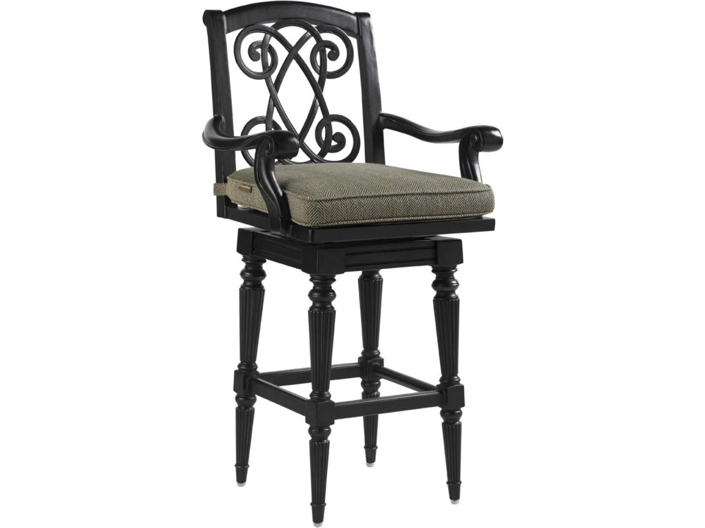 Set Includes Two Swivel Bar Stools