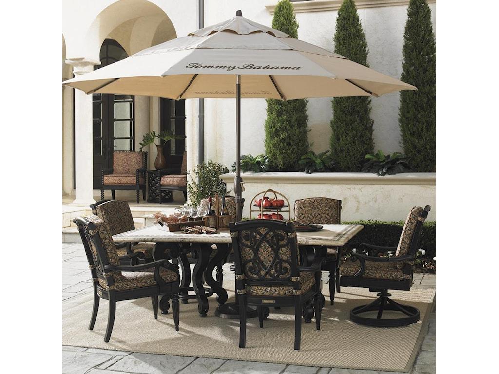 Antique Beige Umbrella Featured in Alfresco Living Collection