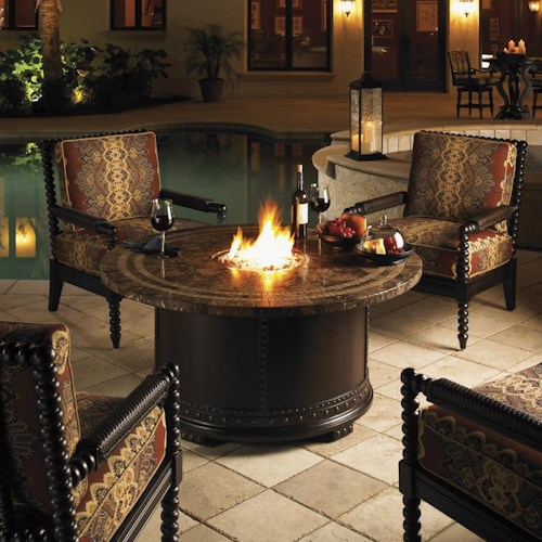 Tommy Bahama Outdoor Living Kingstown Sedona 5 Piece Fire Pit Set with Accent Chairs
