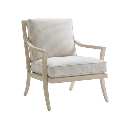 Tommy Bahama Outdoor Living Misty Garden Outdoor Lounge Chair with Performance Fabric Upholstery