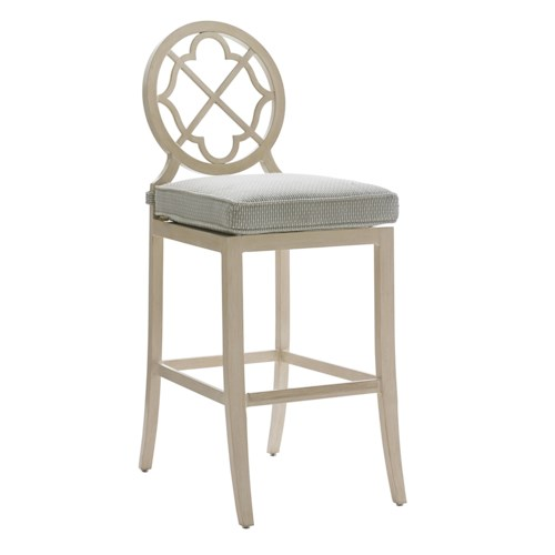 Tommy Bahama Outdoor Living Misty Garden Outdoor Bar Stool with Cushion