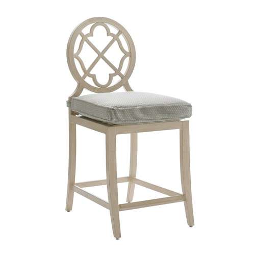 Tommy Bahama Outdoor Living Misty Garden Outdoor Counter Stool with Cushion