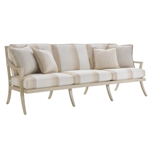 Tommy Bahama Outdoor Living Misty Garden Outdoor Sofa with Performance Fabric Upholstery