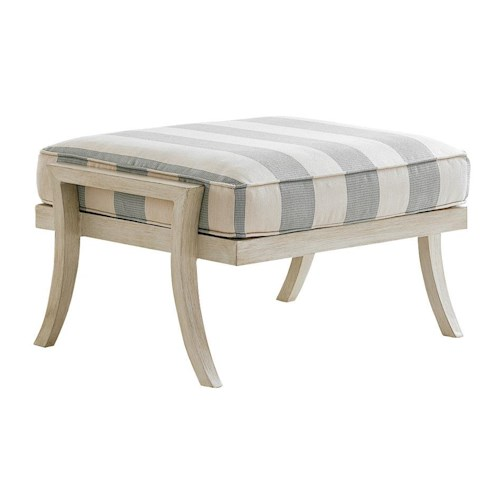 Tommy Bahama Outdoor Living Misty Garden Outdoor Ottoman with Removable Cushion