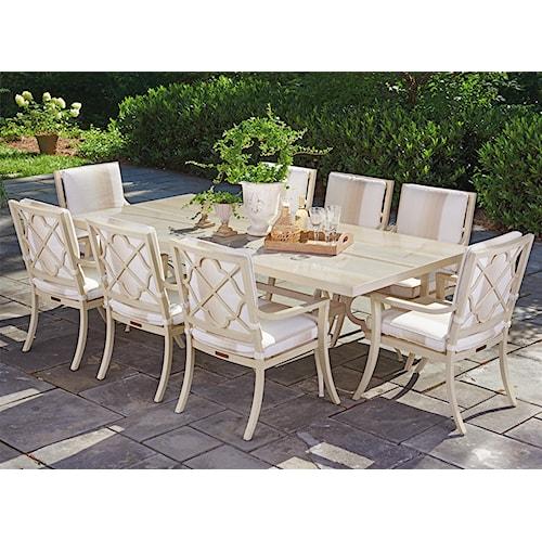 Tommy Bahama Outdoor Living Misty Garden Nine Piece Outdoor Dining Set