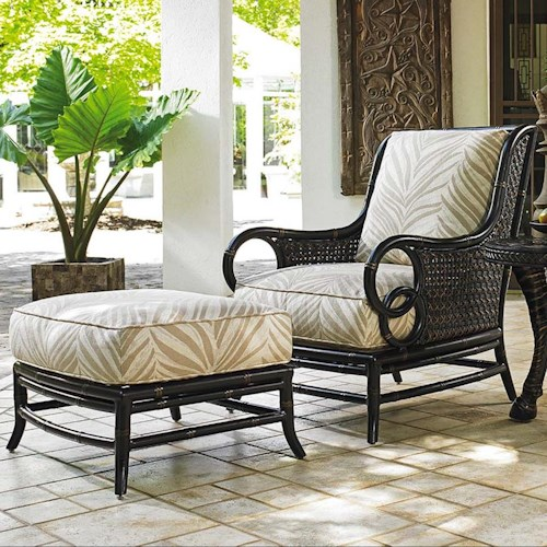 Tommy Bahama Outdoor Living Marimba Outdoor Lounge Chair and Ottoman Set