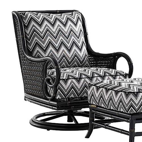 Tommy Bahama Outdoor Living Marimba Outdoor Swivel Rocker Lounge Chair