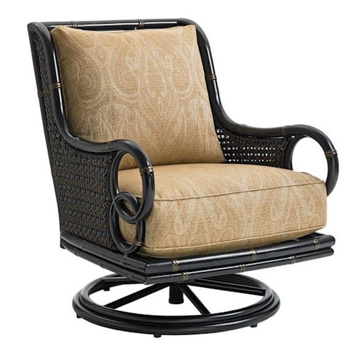 Tommy Bahama Outdoor Living Marimba Outdoor Swivel Rocker Lounge Chair