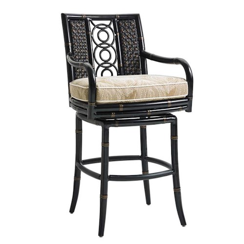 Tommy Bahama Outdoor Living Marimba Outdoor Swivel Bar Stool