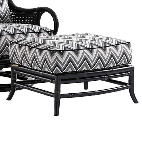 Tommy Bahama Outdoor Living Marimba Outdoor Ottoman with Removable Cushion