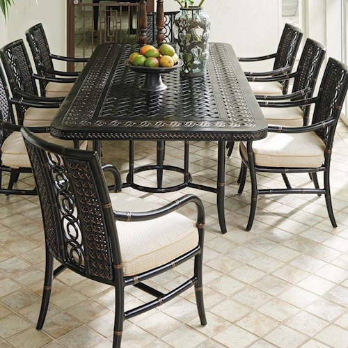 Tommy Bahama Outdoor Living Marimba Nine Piece Outdoor Dining Set