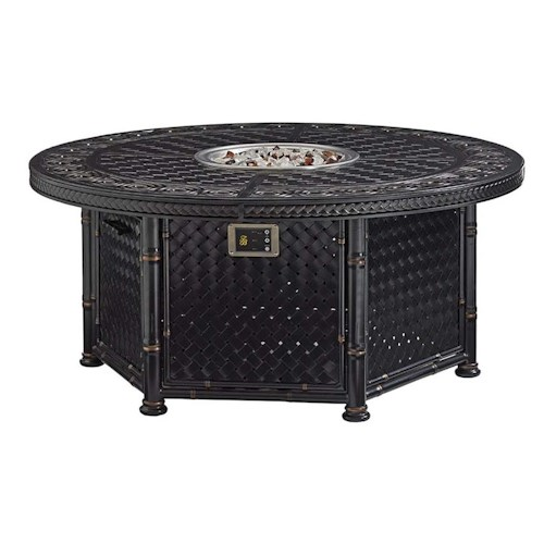 Tommy Bahama Outdoor Living Marimba Dual Source Fire Pit with Three-Level Flame