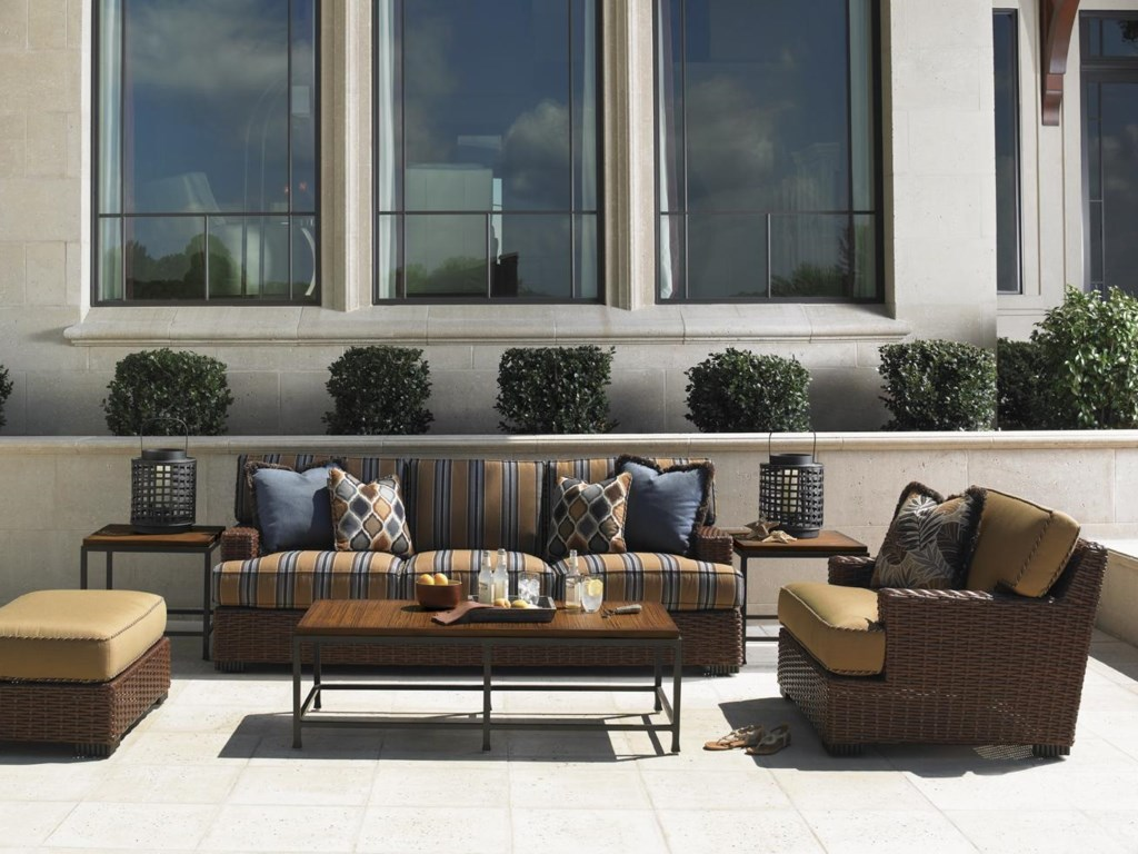 Shown with Outdoor Sofa, Cocktail Table, Side Tables and Ottoman