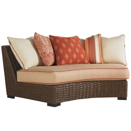 Tommy Bahama Outdoor Living Ocean Club Pacifica Outdoor Curved Armless Scatterback Sofa
