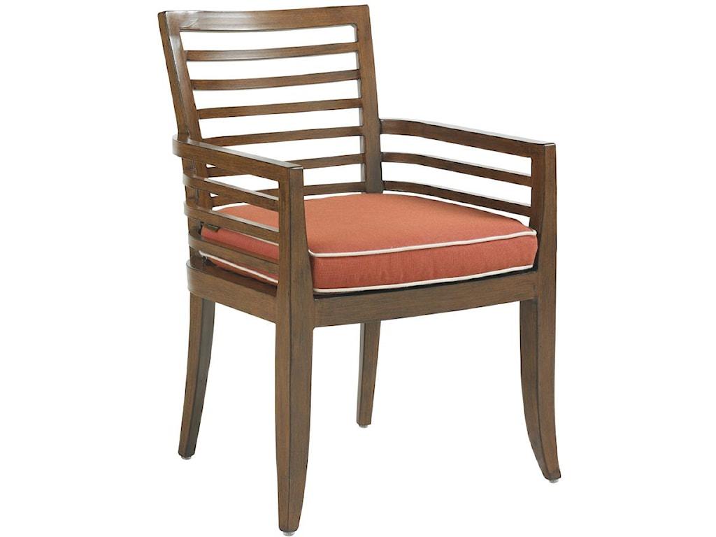 Horizontal Back Dining Arm Chair