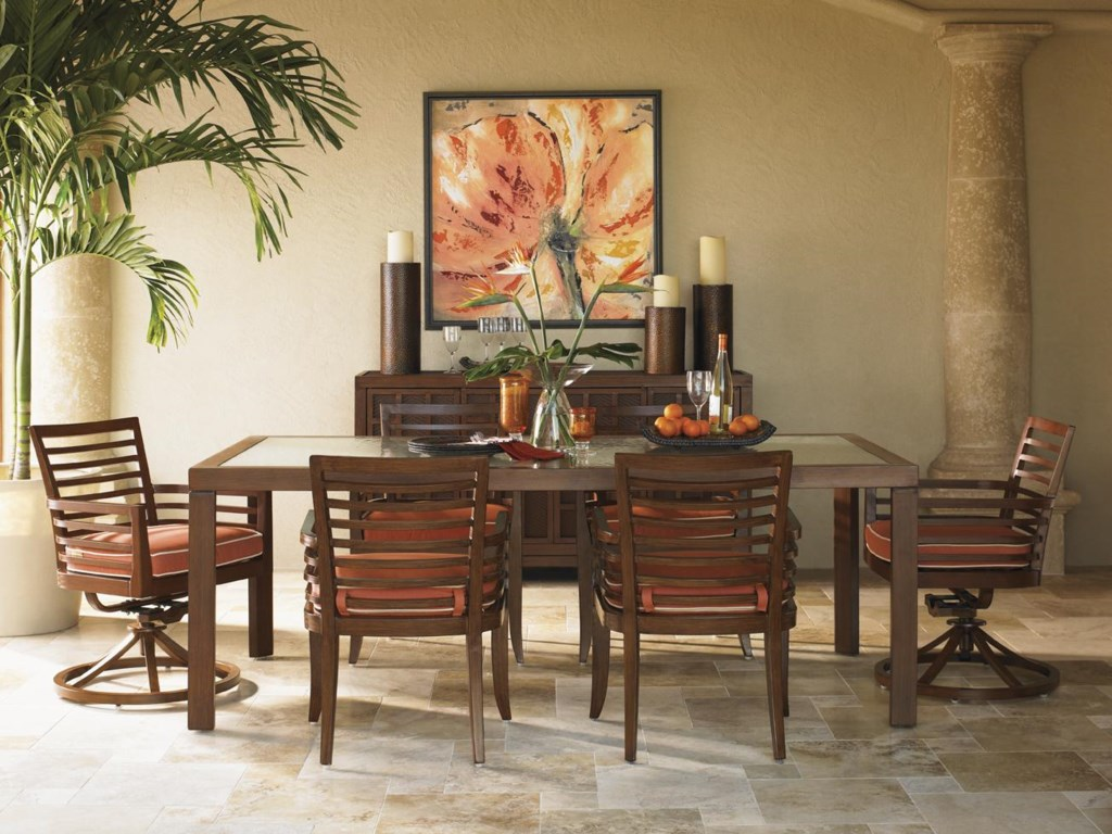 Shown with Dining Chairs and Swivel Dining Chairs