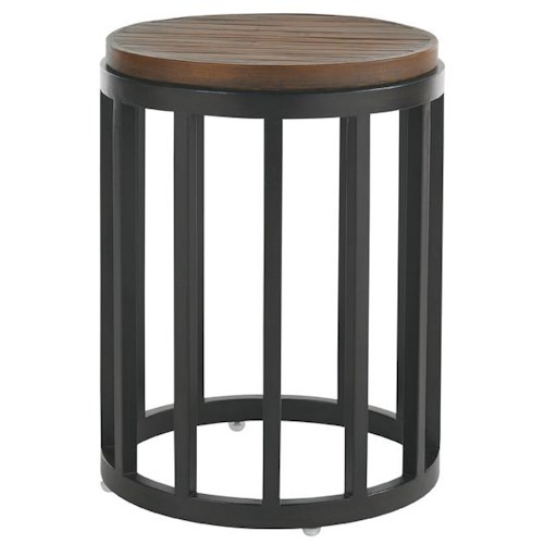 Tommy Bahama Outdoor Living Ocean Club Pacifica Weatherstone Round Accent Table with Weatherstone Top