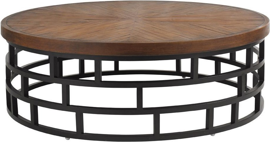 Round Weatherstone Cocktail Table from the Ocean Club Resort Collection