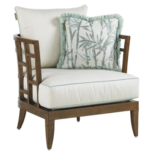Tommy Bahama Outdoor Living Ocean Club Resort Stationary Grid Back Lounge Chair