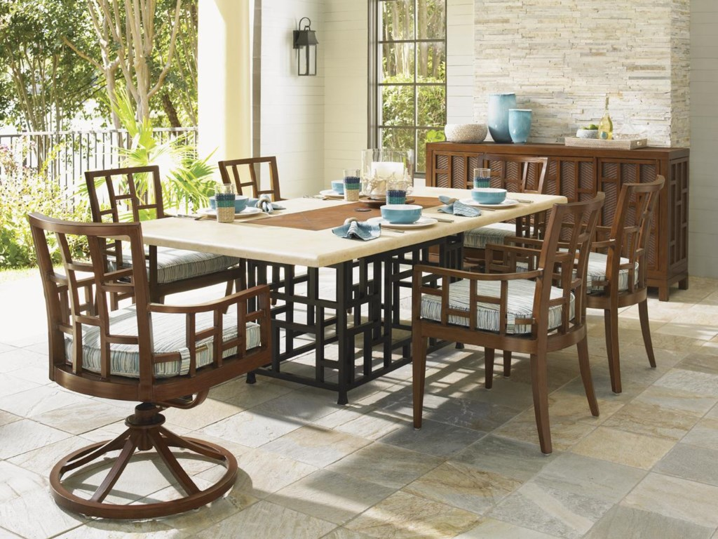 Shown with Swivel Rocker Dining Chair, Rectangular Dining Table and Buffet