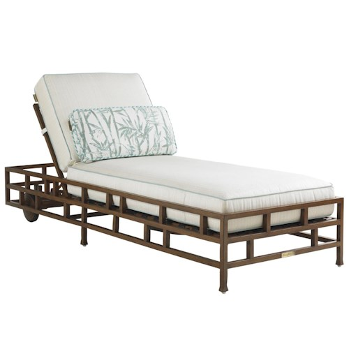 Tommy Bahama Outdoor Living Ocean Club Resort Chaise Lounge with Multi-Position Backrest