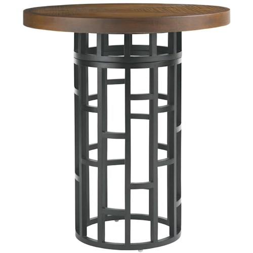 Tommy Bahama Outdoor Living Ocean Club Resort 38-Inch Weatherstone Top Bistro Table with 2 Height Settings