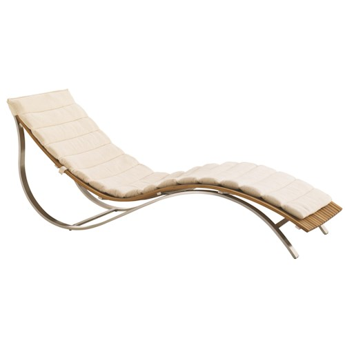 Tommy Bahama Outdoor Living Tres Chic Modern Outdoor Chaise Lounge with Weatherproof Seat Cushion