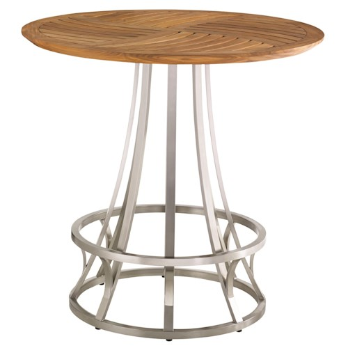 Tommy Bahama Outdoor Living Tres Chic Modern Outdoor Adjustable High / Low Bistro Table