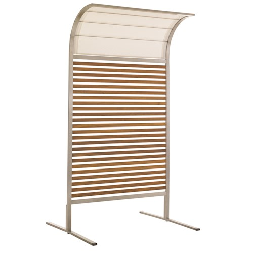 Tommy Bahama Outdoor Living Tres Chic Outdoor Teak and Stainless Steel Sunscreen