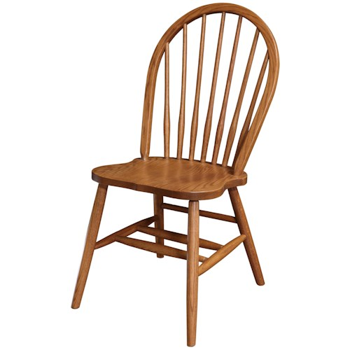 Rotmans Amish Americana Solid Wood Side Chair with Spindle Back