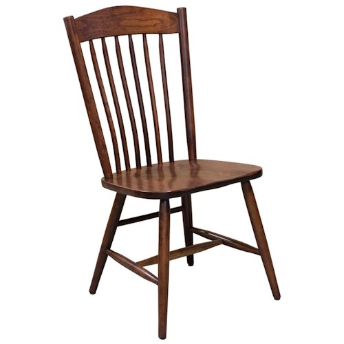 Trailway Wood Freeport Customizable Solid Wood Side Chair with Spindle Back