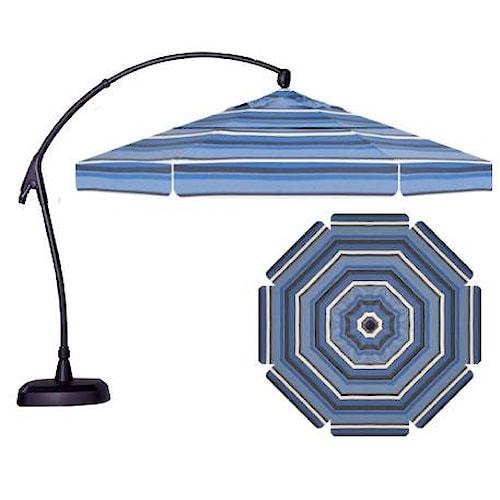 Treasure Garden 11 Cantilever Umbrellas 11' Cantilever Octagonal Umbrella with Double Wind Vents