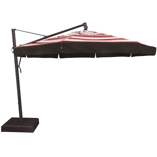 Treasure Garden 11 Cantilever Umbrellas 11' Cantilever Ocatagonal Umbrella with Double Wind Vent and Valance