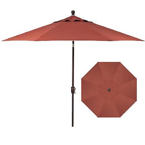 Belfort Umbrellas Push Button Market Umbrellas 9' Push Button Tilt with Bronze Pole