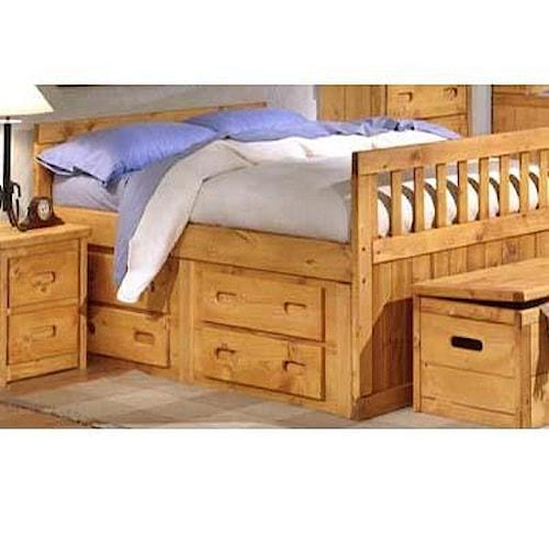 Trendwood 4100 Twin Size Captain Bed