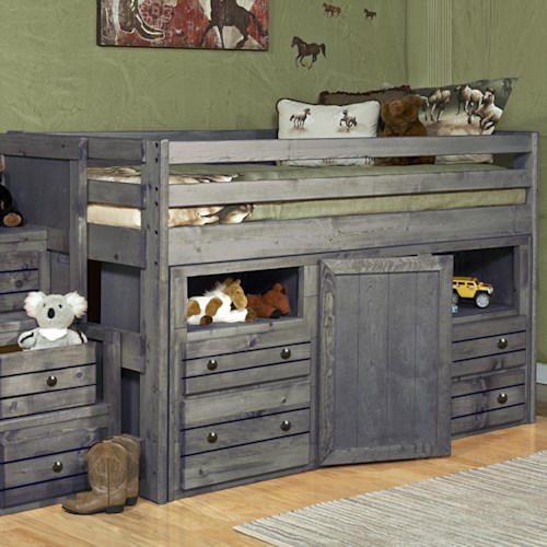 Trendwood Bayview Junior Loft Bed w/ Storage Dresser