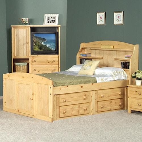 Trendwood Bayview Full Dakota Bed w/ Four Drawer Storage
