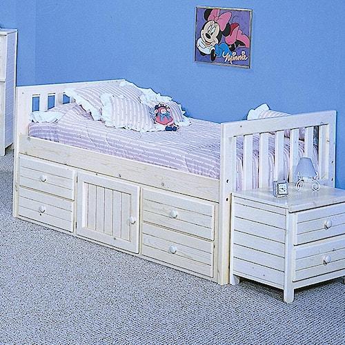 Trendwood Bayview Full Captain's Bed
