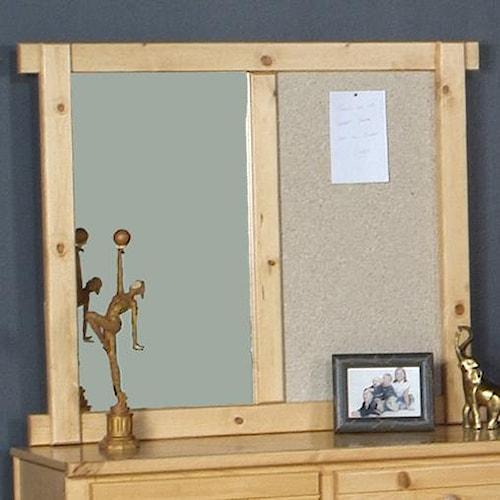 Trendwood Bayview Landscape Mirror with Cork Board