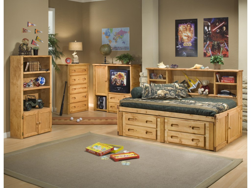 Shown with Universal Bookcase and 5 Drawer Chest