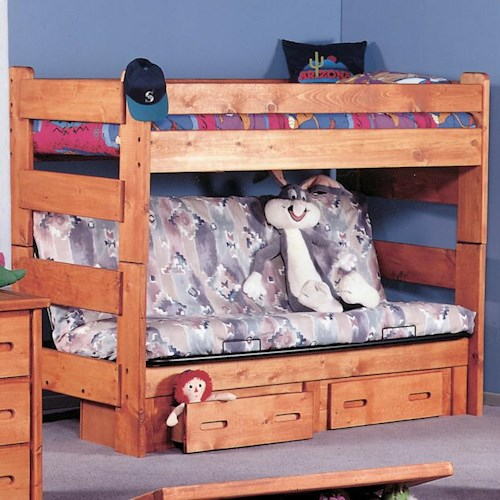 Trendwood Bunkhouse Twin Futon Bunk Bed