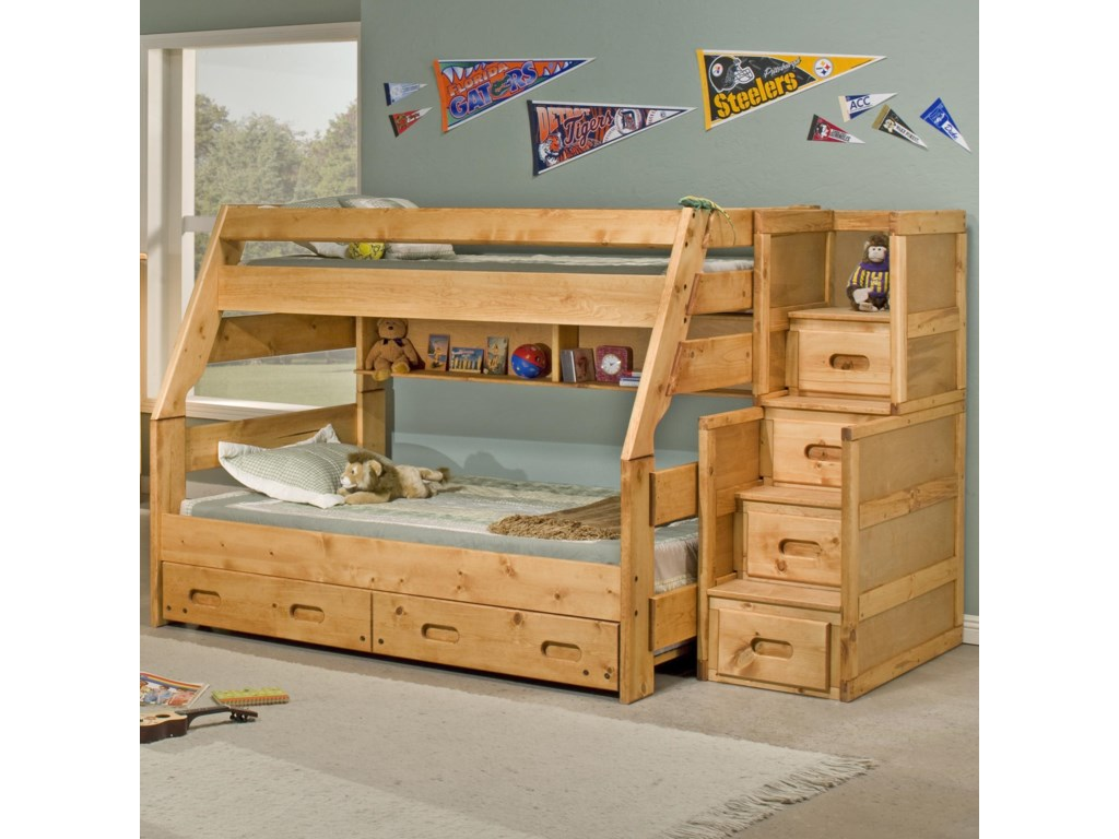 Shown with Stairway Chest, Universal Bunkshelf, and Trundle