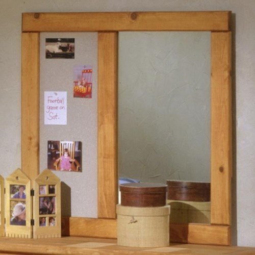 Trendwood Bunkhouse Landscape Mirror with Corkboard