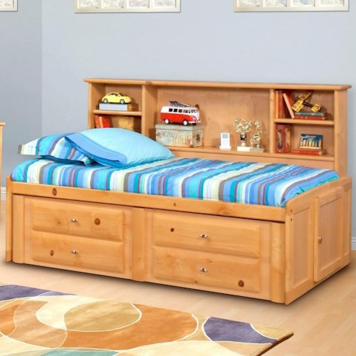 Trendwood Laguna  Twin Roomsaver Bed with Four Drawer Underdresser