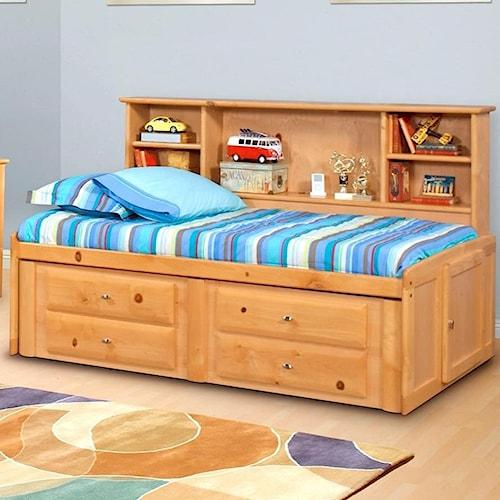 Trendwood Laguna  Full Roomsaver Bed with Four Drawer Underdresser
