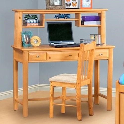 Trendwood Laguna  Three Drawer Student Desk with Hutch