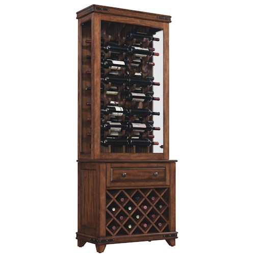 Bell'O Mayfield Two-Piece Curio Cabinet with Wine Storage