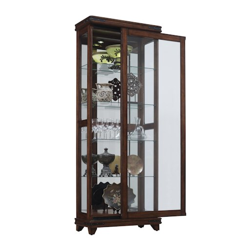 Bell'O Mayfield Curio Cabinet with Adjustable Glass Shelving and LED Touch Lighting