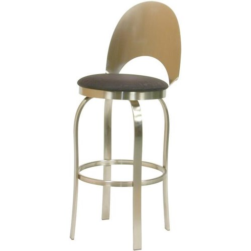 Trica Contemporary Bar Stools Champagne Swivel Bar Stool