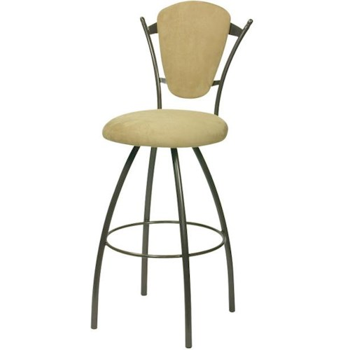 Trica Contemporary Bar Stools Clip Swivel Bar Stool